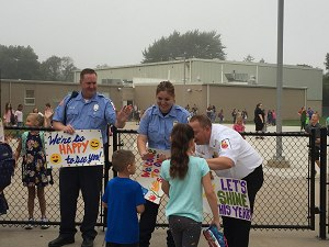 Community Leaders welcome students to School